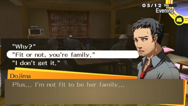 Stop being so hard on yourself Dojima